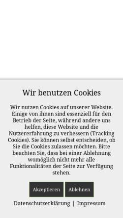 Vorschau der mobilen Webseite www.fleischerei-otte.de, Landfleischerei Otte GbR - Heinrich & Daniel Otte