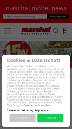Vorschau der mobilen Webseite maschal.de, Maschal Einrichtungs- & Einkaufszentrum GmbH