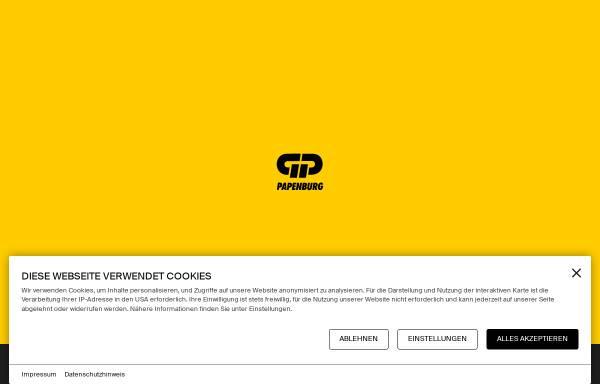 Vorschau von www.gp.ag, GP Günter Papenburg AG