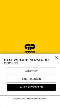 Vorschau der mobilen Webseite www.gp.ag, GP Günter Papenburg AG