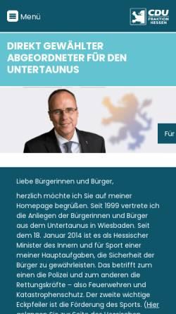 Vorschau der mobilen Webseite www.unserabgeordneter.de, Beuth, Peter (MdL)