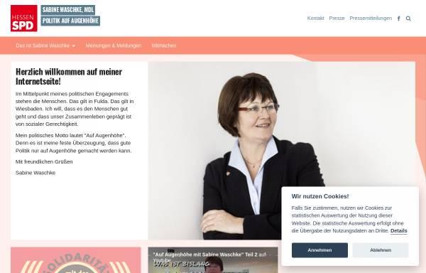 Vorschau von www.sabine-waschke.de, Waschke, Sabine (MdL)