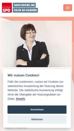 Vorschau der mobilen Webseite www.sabine-waschke.de, Waschke, Sabine (MdL)