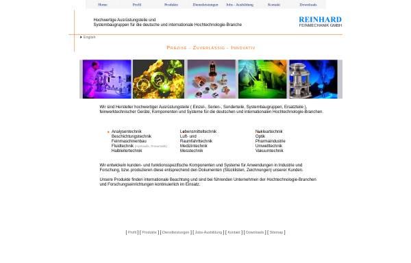 Vorschau von www.reinhard-feinmechanik.de, Reinhard Feinmechanik GmbH