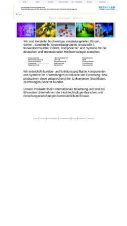 Vorschau der mobilen Webseite www.reinhard-feinmechanik.de, Reinhard Feinmechanik GmbH