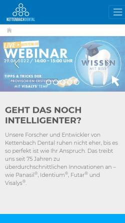 Vorschau der mobilen Webseite www.kettenbach.de, Kettenbach GmbH & Co. KG
