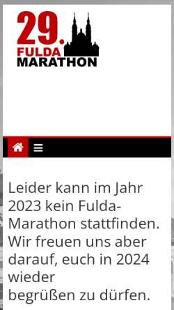 Vorschau der mobilen Webseite www.fulda-marathon.de, Fulda-Marathon