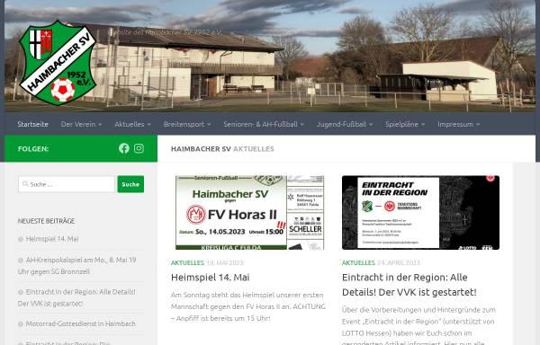 Vorschau von haimbacher-sv.de, Haimbacher SV - 1952 e.V.