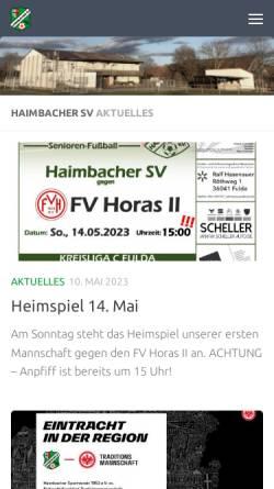 Vorschau der mobilen Webseite haimbacher-sv.de, Haimbacher SV - 1952 e.V.