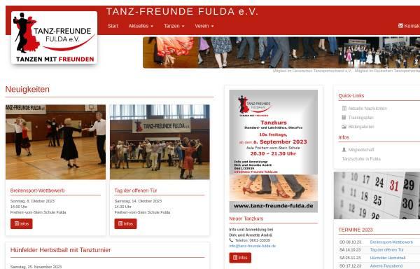 Vorschau von www.tanz-freunde-fulda.de, Tanz-Freunde Fulda e.V.