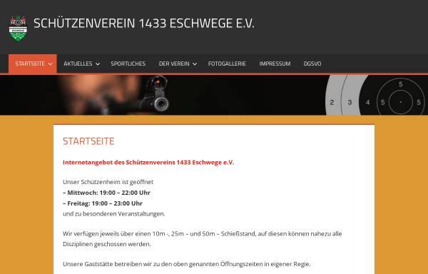Vorschau von www.schützenverein1433.de, Schützenverein 1433 Eschwege e.V.