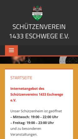 Vorschau der mobilen Webseite www.schützenverein1433.de, Schützenverein 1433 Eschwege e.V.
