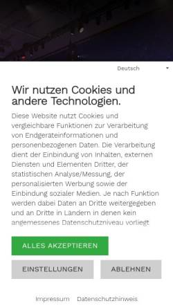 Vorschau der mobilen Webseite www.tanzbrunnen.com, Tanzbrunnen