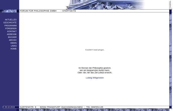 Vorschau von www.forum-ffm.de, Forum für Philosophie GmbH