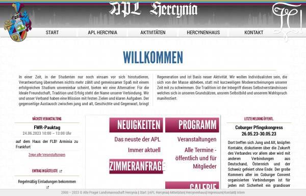 Vorschau von www.apl-hercynia.de, Alte Prager Landsmannschaft Hercynia im CC