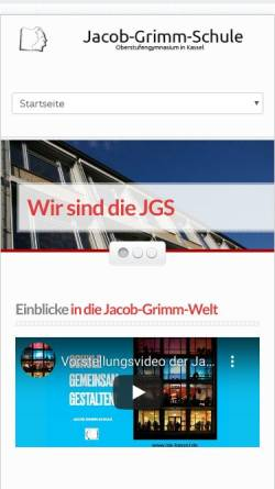 Vorschau der mobilen Webseite www.jgs-kassel.de, Jacob-Grimm-Schule Kassel