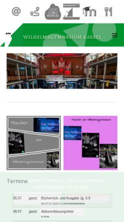 Vorschau der mobilen Webseite www.wgkassel.de, Wilhelmsgymnasium