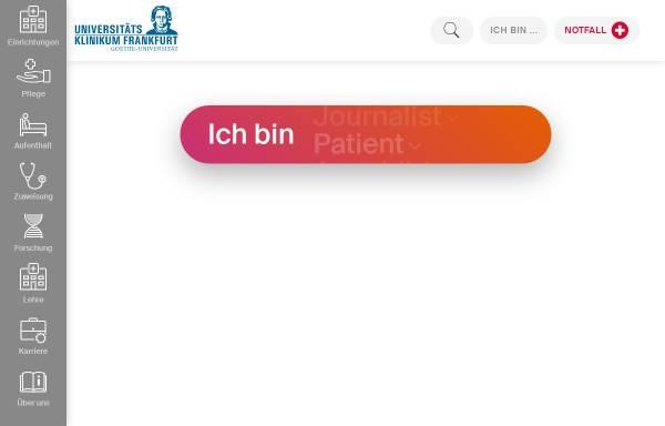 Vorschau von www.kgu.de, Johann Wolfgang Goethe-Universität - Klinikum und Fachbereich Medizin