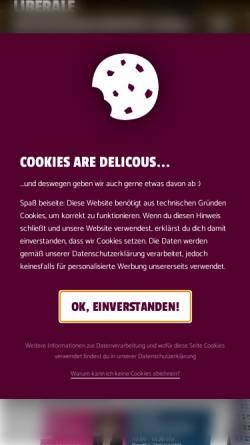 Vorschau der mobilen Webseite www.lhg-ffm.de, LHG - Liberale Hochschulgruppe Frankfurt am Main