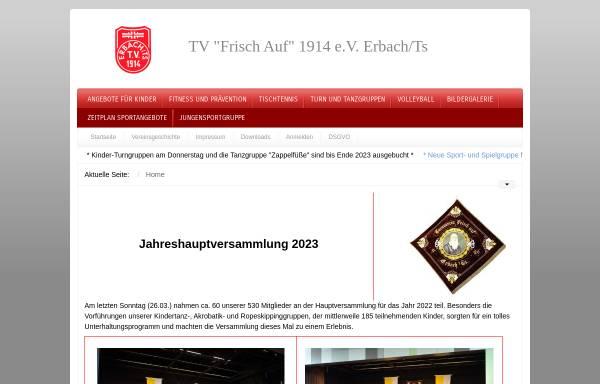 Vorschau von www.tv-erbach.de, TV Frisch Auf 1914 e.V. Erbach/Ts