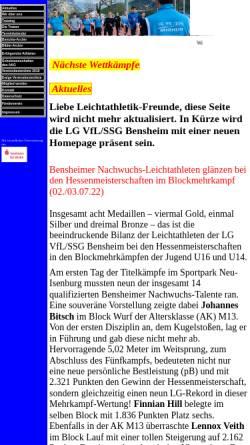 Vorschau der mobilen Webseite www.vflssgbensheim.de, VfL/SSG Bensheim Leichtathletik