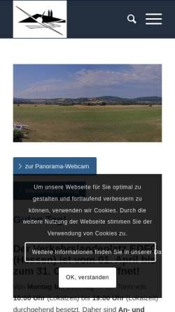 Vorschau der mobilen Webseite www.aeroclub-gelnhausen.de, Aero-Club Gelnhausen e.V.