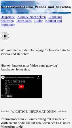 Vorschau der mobilen Webseite www.svb-gelnhausen.de, Schützenverein Barbarossa Gelnhausen 1862 e.V.