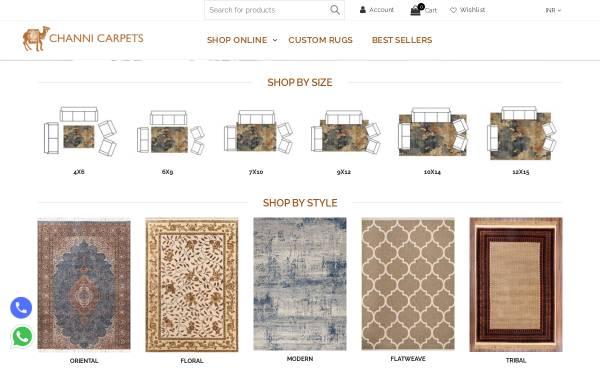 Vorschau von www.channicarpets.com, Channi Carpets Pvt., Ltd