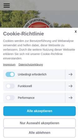 Vorschau der mobilen Webseite www.tsg-wehrheim.de, TSG Wehrheim