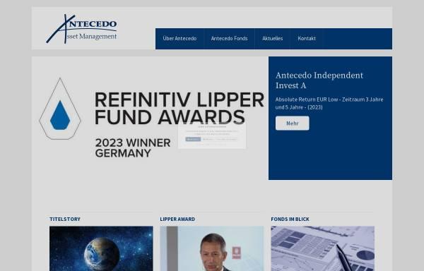 Vorschau von www.antecedo.eu, Antecedo Asset Management GmbH