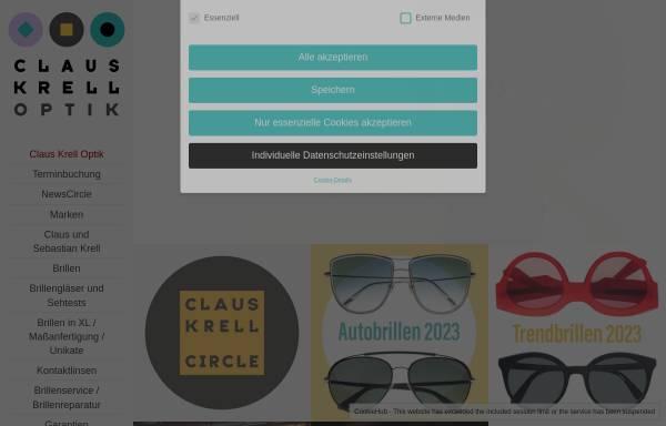 Vorschau von www.claus-krell-optik.de, Claus Krell Optik