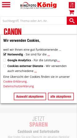 Vorschau der mobilen Webseite www.der-foto-koenig.de, Foto König
