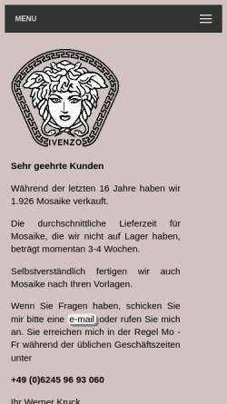 Vorschau der mobilen Webseite www.marmor-mosaike.de, Marmor-Mosaike Kruck