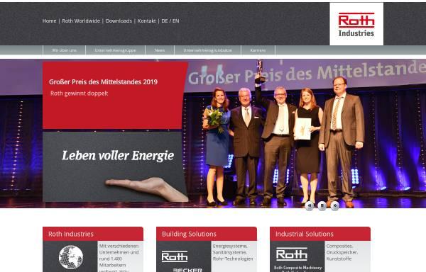 Vorschau von www.roth-industries.de, Roth Industries GmbH & Co. KG