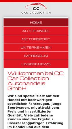 Vorschau der mobilen Webseite www.carcollection.de, CC Car Collection Autohandels GmbH