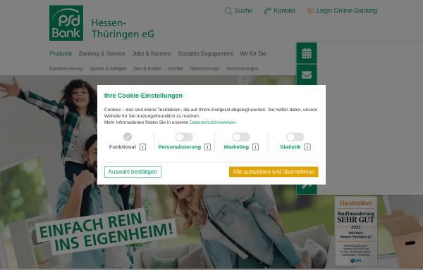 Vorschau von www.psdbank-ht.de, PSD Bank Hessen-Thüringen eG