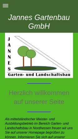Vorschau der mobilen Webseite www.jannes-gartenbau.de, Jannes Gartenbau GmbH