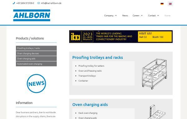 Vorschau von www.karl-ahlborn.de, Karl Ahlborn Maschinenfabrik KG