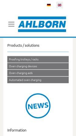 Vorschau der mobilen Webseite www.karl-ahlborn.de, Karl Ahlborn Maschinenfabrik KG