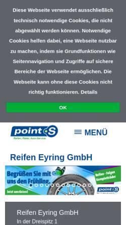 Vorschau der mobilen Webseite www.reifen-eyring.de, Reifen Eyring GmbH