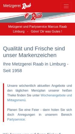 Vorschau der mobilen Webseite www.metzgerei-raab-limburg.de, Marcus Raab