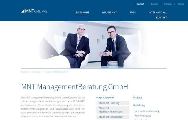 Vorschau von www.mnt-managementberatung.de, MNT Revision und Treuhand GmbH