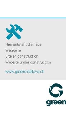 Vorschau der mobilen Webseite www.galerie-dallava.ch, Galerie-Dall'Ava, Inh. Giancarlo M. Dall'Ava