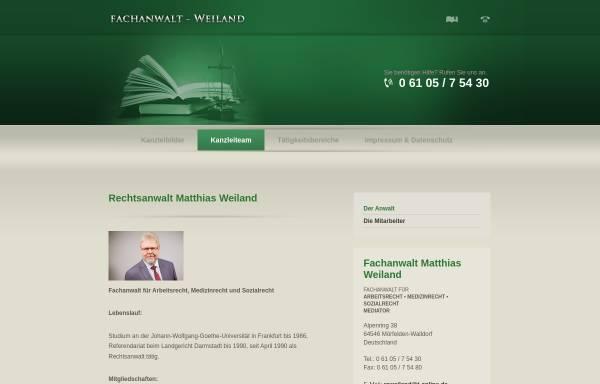 Vorschau von www.fachanwalt-weiland.de, Rechtsanwalt Matthias Weiland