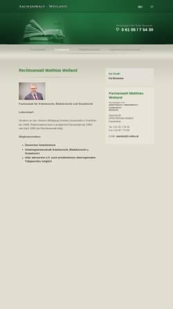 Vorschau der mobilen Webseite www.fachanwalt-weiland.de, Rechtsanwalt Matthias Weiland