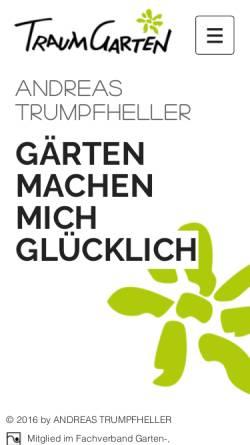Vorschau der mobilen Webseite www.traumgarten-online.de, Traumgarten GmbH