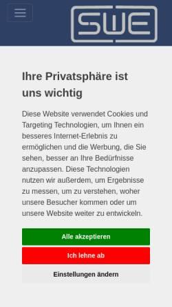 Vorschau der mobilen Webseite www.swe-gmbh.com, SWE Sicherheits- und Elektrotechnik GmbH