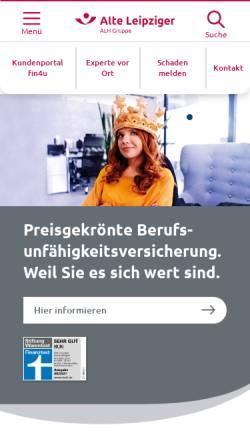 Vorschau der mobilen Webseite www.alte-leipziger.de, Verbund Alte Leipziger-Hallesche