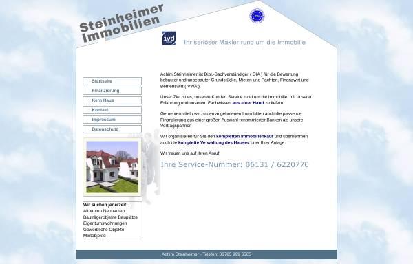 Vorschau von www.steinheimer-immobilien.de, Achim Steinheimer Immobilien