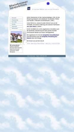 Vorschau der mobilen Webseite www.steinheimer-immobilien.de, Achim Steinheimer Immobilien